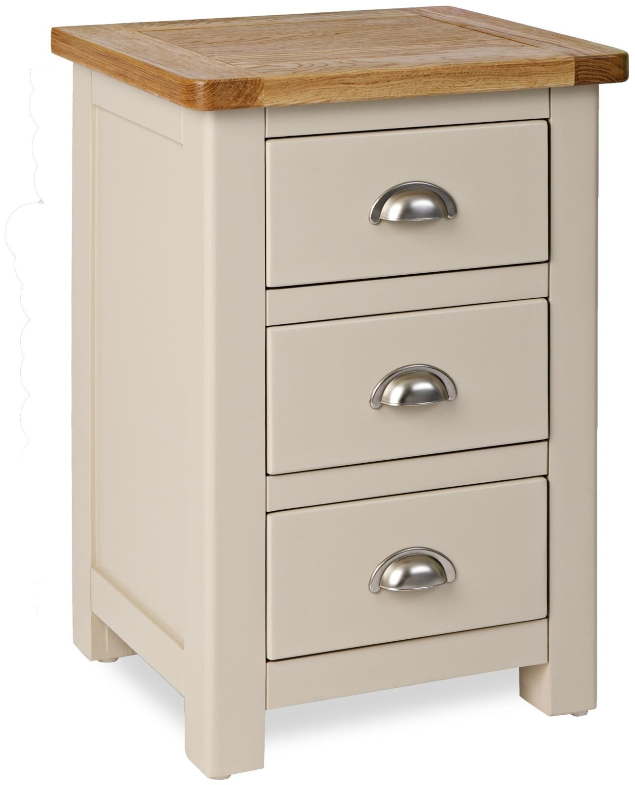 big sale c61de f7a97 Portland Stone Grey Painted Bedside Cabinet | Fully Assembled