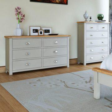 Oak Bedroom Furniture Painted Or, White Solid Wood Bedroom Furniture Uk