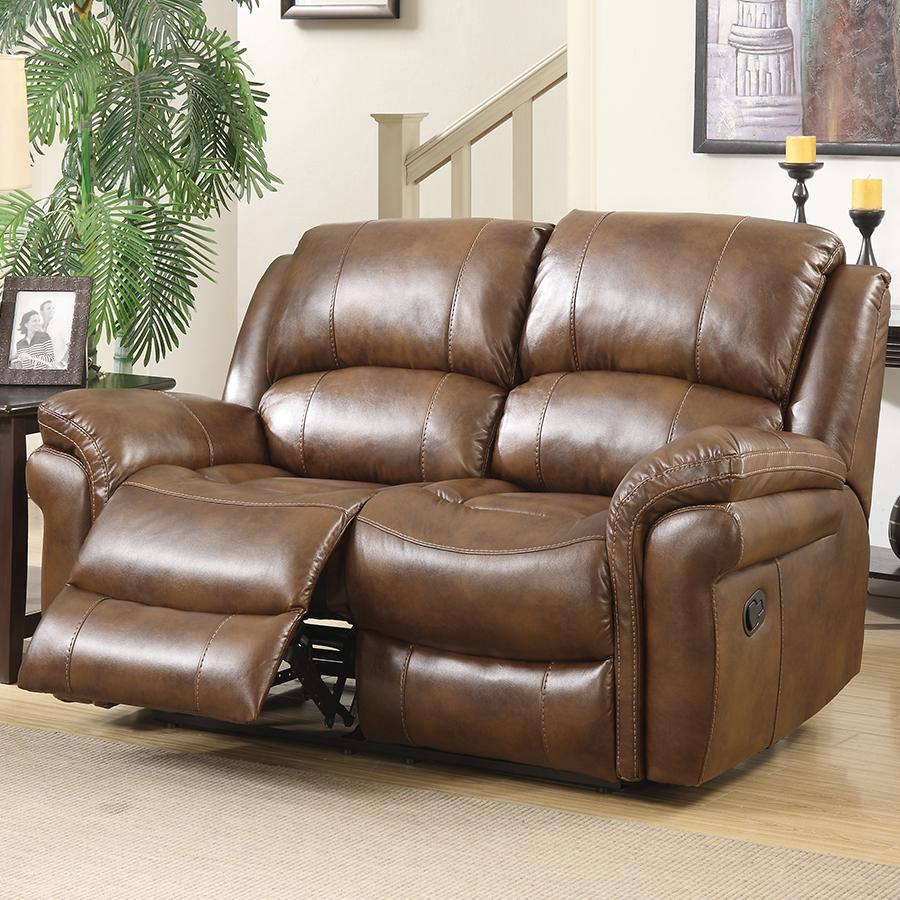 Farnham Tan Leather Sofa 2 Seat Electric Recliner
